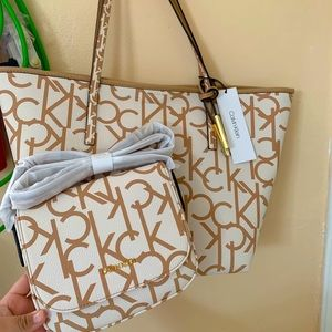 Matching Monogram CK handbag & crossbody